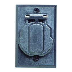 Design House - Design House 502112 Replacement Electrical Outlet For Outdoor Lamp Post - Design House 502112 Replacement Electrical Outlet For Outdoor Lamp Post from the Lamp Post CollectionReplacement Electrical Outlet for Outdoor Lamp Post.