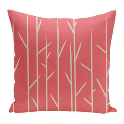 e by design - Branches Coral 18-Inch Cotton Decorative Pillow - - Decorate and personalize your home with coastal cotton pillows that embody color and style from e by design  - Fill Material: Synthetic down  - Closure: Concealed Zipper  - Care Instructions: Spot clean recommended  - Made in USA e by design - CPO-NR7-Coral-18