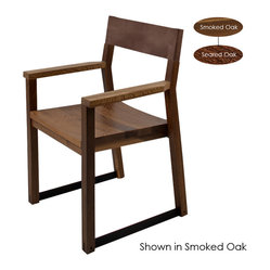 Lima Armchair Dining Chair, Set of 2, Seared Oak