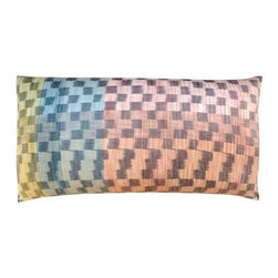 ImperioJP - King Size Raw Silk Ikat Pillows | S/2 - These pillows are some of the favorites of top interior designers. They