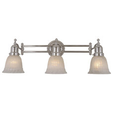 Traditional Bathroom Vanity Lighting Swing Arm Chrome 3 Light Vanity