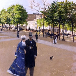 "Jean-Georges Beraud Parisian Street Scene - 16"" x 24"" Premium Archival Print - 16"" x 24"" Jean-Georges Beraud Parisian Street Scene premium archival print reproduced to meet museum quality standards. Our museum quality archival prints are produced using high-precision print technology for a more accurate reproduction printed on high quality, heavyweight matte presentation paper with fade-resistant, archival inks. Our progressive business model allows us to offer works of art to you at the best wholesale pricing, significantly less than art gallery prices, affordable to all. This line of artwork is produced with extra white border space (if you choose to have it framed, for your framer to work with to frame properly or utilize a larger mat and/or frame).  We present a comprehensive collection of exceptional art reproductions byJean-Georges Beraud."