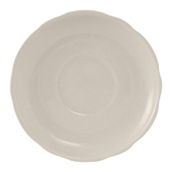 Tuxton - Shell 4 7/8 inch Demitasse Saucer Scalloped Edge in White - Case of 36 - DuraTux offers the widest selection of ceramic ovenware and accessory items in the industry. Our products are designed to handle the demands of any fastpaced environment  without breaking your budget. As with our dinnerware products all our ovenware items are fully microwavesafe, ovenproof, and dishwasherfriendly. With a variety of shapes sizes and colors our Cappuccino and Espresso collection can supply the ideal complement to your table.