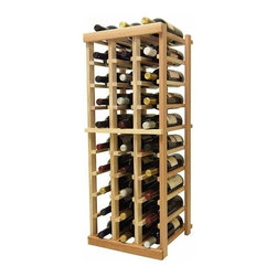 Wine Cellar Innovations - 3 ft. 3-Column Bottle Wine Rack (All-Heart Redwood - Light Stain) - Choose Wood Type and Stain: All-Heart Redwood - Light Stain. Bottle capacity: 30. Three column wine rack. Versatile wine racking. Custom and organized look. Beveled and rounded edges ensures wine labels will not tear when the bottles are removed. Can accommodate just about any ceiling height. Wine rack: 14.19 in. W x 13.5 in. D x 35.94 in. H (10 lbs.). Optional base platform: 14.19 in. W x 13.38 in. D x 3.81 in. H (5 lbs.). Vintner collection. Vintner collection. Made in USA. Warranty. Assembly Instructions. Rack should be attached to a wall to prevent wobble