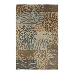 Kaleen - Country & Floral Botany 8'x11' Rectangle Decolores Area Rug - The Botany area rug Collection offers an affordable assortment of Country & Floral stylings. Botany features a blend of natural Decolores color. Hand Tufted of 100% Wool the Botany Collection is an intriguing compliment to any decor.