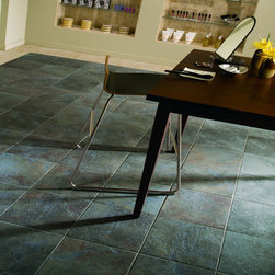 Daltile Continental Slate Asian Black - This is a glazed, porcelain floor tile from Daltile.