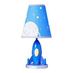 "Cal Lighting - Cal Lighting BO-5644 60 Watt 15"" Kids / Youth Wood Rocket Table Lamp with On/Off - 60 Watt 15"" Kids / Youth Wood Rocket Table Lamp with On/Off Switch from the Kids CollectionSpecifications:"