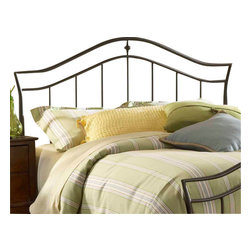Hillsdale Furniture - Hillsdale Imperial Panel Headboard with Rails - Full/Queen - A simple and sophisticated silhouette is the trademark feature of Hillsdale Furniture's Imperial bed. Classic spindles meet a graceful arched top rail, and frame a delicate shaped casting. Finished in a versatile twinkle black, and constructed of heavy gauge tubular steel, this bed is adaptable enough for any bedroom in your home. Minor assembly required.