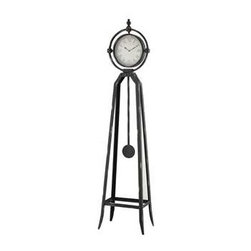 "Chateau Standing Clock - Chateau Standing Clock Chateau Standing Clock. 13.5"" x 9"" x 57.5"",Metal Vintage Warehouse Clock with Rusted Metal Finish 13.5"" x 9"" x 57.5"""