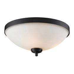 Z-Lite - Z-Lite 2006F3 Chambley 3 Light Flush Mount Ceiling Fixture - Z-Lite 2006F3 Chambley 3 Light Flush Mount Ceiling FixtureA fixture from Z-Lite's Chambley Collection, featuring a iron frame, glass shade and modern lines highlight this three light flush mount from the Chambley Collection. With a height of 6.75 inches and a luxurious oil rubbed bronze finish, this flush mount adds a contemporary feel to any room.Z-Lite 2006F3 Features: