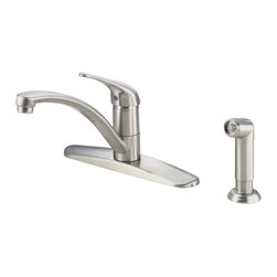Danze Melrose™ Single Handle Kitchen Faucet with Spray - - 4 hole mount.