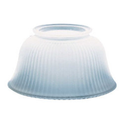 Renovators Supply - Lamp Shades White Glass Ribbed Lamp Shade 3 5/8'' H x 4'' Fitter | 98772 - Lamp Shades: Our White Heritage Lamp Shades are classic in design and will enhance any room's lighting needs. Fits 4 inch fitter.