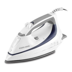 Applica Consumer Prod - Auto-Off Steamexpress Iron - Lightweight for steam or dry ironing. Automatic shut-off after 10-min for peace of mind. Fine mist spray for fast wrinkle removal. Nonstick-coated aluminum soleplate wipes clean. Powerful surge provides a blast of steam and doubles as a vertical steamer. Variable steam to match the amount of steam to the fabric type. This item cannot be shipped to APO/FPO addresses. Please accept our apologies