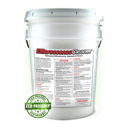 RadonSeal® - RadonSeal® Efflorescence Cleaner (2.5-gal) | Remove Efflorescence Safely - RadonSeal® Efflorescence Cleaner breaks down and removes efflorescence, mineral deposits, mold and mildew, and lime deposits from concrete, bricks and other masonry surfaces. Dissolves and oxidizes - makes efflorescence disappear! Much safer and easier than hazardous acids. Also kills molds and mildew on contact. Leaves no residue.
