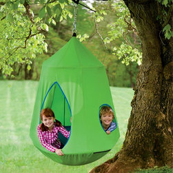 Nylon Canvas HugglePod HangOut With LED Lights - The HugglePod is made for hanging around outdoors.