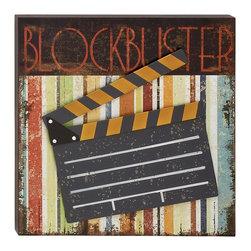 Decorative Wood Metal Movie Plaque - Description: