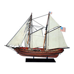 """Handcrafted Nautical Decor - Prince de Neuchatel 24"""" - Wooden Model Pirate Ship - Sold Fully Assembled"""