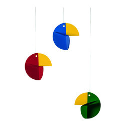 Flensted Mobiles - Talking Tree Mobile in Color - Babies just love color. This bright flock of abstract tropical birds dipping gently over the crib will make your little cutie-pie coo with delight.
