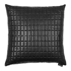 Louise Roe Design Essentials - Luxurious Black Lamb Skin Pillow - Add a sexy raw look to your couch or chair with this incredibly luxurious large lamb skin quilted pillow, by Danish designer Louise Roe. It is certain to make a statement.