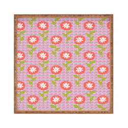 DENY Designs - Zoe Wodarz Dotty Floral Square Tray - With DENY's multifunctional square tray collection, you can use it for decoration in just about any room of the house or go the traditional route to serve cocktails. Either way, you��_ll be the ever so stylish hostess with the mostess!