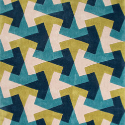 Jaipur Rugs - Hand-Tufted Geometric Pattern Polyester Blue/Green Area Rug ( 7.6x9.6 ) - Style and value strike a perfect balance in Fusion, one of Jaipur's popular collections of contemporary hand-tufted rugs. This spirited series is guaranteed to make a statement in any room, with unexpected color combinations and attention-grabbing patterns. The Fusion Collection proves that fashion-forward doesn't have to carry an expensive price tag.