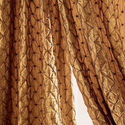 """Horchow - ZENITH LINED DRAPE 48X84 EA - Puckered curtains in rich fabric have a gathered diamond texture. Lined, rod-pocket curtains are available in three different lengths. Made of polyester. Select color when ordering. Dry clean. Each panel is approximately 45""""W. Imported. For gui..."""