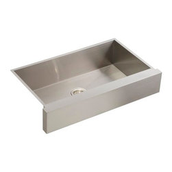 "KOHLER - KOHLER K-3943-NA Vault Undermount Single Basin Kitchen Sink with Shortened Apron - KOHLER K-3943-NA Vault Undermount Single Basin Kitchen Sink with Shortened Apron-Front for 36"" Cabinet in Stainless Steel"