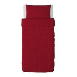 DVALA Duvet cover and pillowcase(s) - Duvet cover and pillowcase(s), red