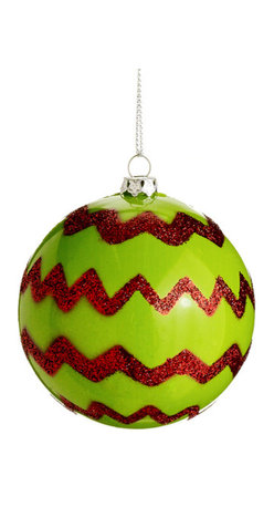 Silk Plants Direct - Silk Plants Direct Glitter Chevron Pattern Plastic Ball Ornament (Pack of 36) - Pack of 36. Silk Plants Direct specializes in manufacturing, design and supply of the most life-like, premium quality artificial plants, trees, flowers, arrangements, topiaries and containers for home, office and commercial use. Our Glitter Chevron Pattern Plastic Ball Ornament includes the following: