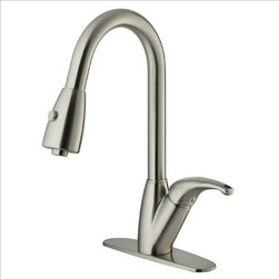 Vigo - VIGO VG02017STK1 Stainless Kitchen Faucet - Purchase a VIGO faucet that is sure to accentuate your kitchen design for years to come.