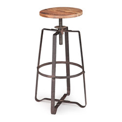 ZUO ERA - Wilde Barstool Distressed Natural - Wilde Barstool Distressed Natural