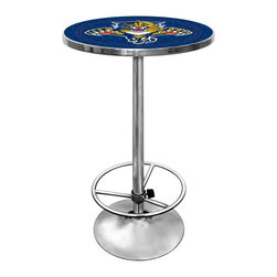 Trademark Global - Round Pub Table w NHL Florida Panthers Logo T - Great for gifts and recreation decor. 0.125 in. Scratch resistant UV protective acrylic top. Full color printed logo is protected by the acrylic top. Table top is trimmed with chrome plated banding. 1 in. Thick solid wood table top. Chrome base with foot rest and adjustable levelers. 28 in. L x 28 in. W x 42 in. H (72 lbs.)This National Hockey League officially licensed pub table is the perfect for your game room on Hockey Night.