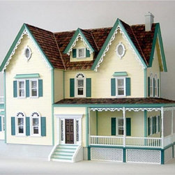 Real Good Toys - Real Good Toys North Park Mansion Dollhouse Kit - 1 Inch Scale Multicolor - HS77 - Shop for Dollhouses and Dollhouse Furnishings from Hayneedle.com! Sure to impress the Real Good Toys North Park Mansion Dollhouse Kit - 1 Inch Scale boasts a time-honored and classic form. This Victorian-inspired three-story design with open back includes a dozen spacious rooms with impressive 10-inch floor-to-ceiling height. It comes with a full foundation with decorative detailed lattice work. Fancy laser-cut gingerbread trim and uniquely assembled oval windows add to the beauty of this distinctive model. Crafted from durable plywood it boasts preassembled windows and doors fancy turned porch and newel posts interior window and door trim hand-split octagonal pine wooden shingles and expertly molded railings and porch posts. Moveable room dividers accept standard doors for your convenience. The upper floors measure 0.375 inches thick for added stability. This sturdy design also utilizes 0.375-inch milled clapboard exterior walls and grooved sidewalls ensuring easy one-step assembly guaranteed fit and durability. This ready-to-assemble model will take approximately 40 hours to assemble and finish. Step-by-step instructions with detailed drawings are included. Recommended supplies include a hammer fine-toothed saw glue utility knife masking tape sandpaper paint brushes screwdriver ruler square and brads. This exquisite kit is suitable for use by collectors. As it includes small pieces it's not recommended for children under the age of 3. About Real Good ToysBased in Barre Vt. Real Good Toys has been handcrafting miniature homes since 1973. By designing and engineering the world's best and easiest to assemble miniature homes Real Good Toys makes dreams come true. Their commitment to exceptional detail the highest level of quality and ease of assembly make them one of the most recommended names in dollhouses. Real Good dollhouses make priceless gifts to pass on to your c