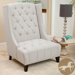 Christopher Knight Home - Christopher Knight Home Miles Tall Wingback Accent Chair - From the well padded tufted back to the wide seat design, the Miles Tall wingback accent chair is the perfect addition to any living room or family room.