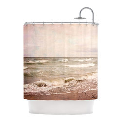 "Kess InHouse - Iris Lehnhardt ""Romantic Sea"" Beach Brown Shower Curtain - Finally waterproof artwork for the bathroom, otherwise known as our limited edition Kess InHouse shower curtain. This shower curtain is so artistic and inventive, you'd better get used to dropping the soap. We're so lucky to have so many wonderful artists that you'll probably want to order more than one and switch them every season. You're sure to impress your guests with your bathroom gallery in addition to your loveable shower singing."