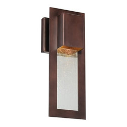 Minka Lighting - Modern Outdoor Wall Light in Bronze - 72381-246 - Don�t leave your outdoor lights off the list to modernize; put the nouveau touches on the outside of your house as well when you purchase the modern outdoor wall light in Bronze. This wall light is part of the Westgate Collection from Minka Lighting; this fixture is made to use one 35-watt halogen bulb, included in shipping. The fixture is tall but thin and makes it perfect next to the door of any contemporary home. Approved for wet and damp locations, this fixture is made of cast aluminum and finished in a rich alder bronze for long lasting quality. Takes (1) 35-watt halogen MR-16 bulb(s). Bulb(s) included. Wet location rated.