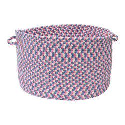 """Colonial Mills - Carousel Storage Basket - Blue Crush, 18"""" x 12"""" - Playful colors and soft textures, these Carousel storage baskets are stain resistant, super durable and perfect for kids storage."""