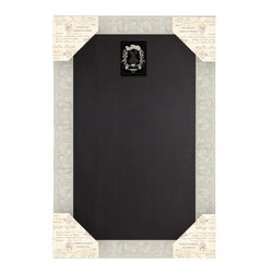 "Enchante Accessories Inc - Framed Chalkboard Framed / Black Board Sign (Distressed Ivory) - Wood framed chalkboard / black board signMade from MDF wood with ornate, scrolled accents and distressed edgesPerfect for jotting down notes, messages, memos, and remindersCan be hung or leaned against the wall in any roomMeasures 24"" x 36""Add beauty and function to any room with this ornate wood framed chalkboard sign from Sheffield Home. The Framed Chalkboard Framed / Black Board Sign is crafted from MDF wood and features a decorative floral frame with scrollwork that adds texture and a touch of old world flair. The painted finish is detailed with distressed, weathered accents that give it an aged, vintage look and lend a sense of French country charm to any room design. The chalkboard itself provides a great reusable surface on which to write memos, jot down notes, or make lists of things to do.The rectangular painted wood frame can be hung against the wall or propped up and leaned against a flat surface if you want to keep it on a countertop or on top of your desk. The scrollwork gives it the cozy country feel and the antique look of a menu board you might spot at a Parisian bistro or sidewalk caf"". In the home, it is perfect for use in an office where you can write down lists of things to do, projects that need to be started, or invoices that need to be paid. In a kitchen, it can be used as a place to write down recipe ideas, alert family members or roommates to what""s on the menu for dinner, or jot down lists of pantry items that need to be replaced or produce that needs to be picked up at the local farmer""s market. It can also be used as a reminder board on which to write down the schedules for soccer games, ballet classes, or school events. Doctor""s appointments, vet appointments for your pet, or important family gatherings can also be noted and kept in a central location that the entire family can see.This framed black board sign is available in distressed ivory, distressed tan, and shabby black finishes that look beautiful in your home, in an office, or in a caf"" or bar with a cozy, vintage feel. For the eco-friendly decorator, the chalkboard surface provides a smart reusable writing space that helps to eliminate the need for paper."