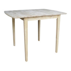 International Concepts - International Concepts Unfinished Square/Rectangular Counter Height Dining Table - International Concepts - Dining Tables - KT36X36S