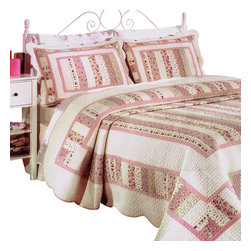 Blancho Bedding - [Mangena] 100% Cotton 3PC Vermicelli-Quilted Patchwork Quilt Set (Full/Queen) - Set includes a quilt and two quilted shams (one in twin set). Shell and fill are 100% cotton. For convenience, all bedding components are machine washable on cold in the gentle cycle and can be dried on low heat and will last you years. Intricate vermicelli quilting provides a rich surface texture. This vermicelli-quilted quilt set will refresh your bedroom decor instantly, create a cozy and inviting atmosphere and is sure to transform the look of your bedroom or guest room.