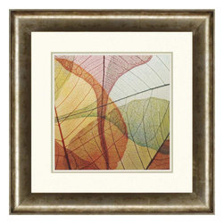 Paragon - Colorful Leaves I - Framed Art - Each product is custom made upon order so there might be small variations from the picture displayed. No two pieces are exactly alike.