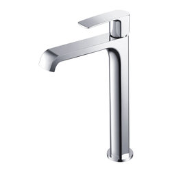 Fresca - Fresca Tusciano Single Hole Vessel Mount Bathroom Vanity Faucet - Chrome - This single hole vessel faucet is made from heavy duty brass with a chrome finish.  Features ceramic mixing valve for longevity and watertight functionality.