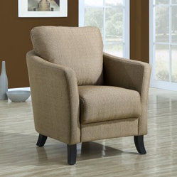 Monarch Curved Back Fabric Club Chair - Taupe