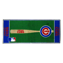 Fanmats - MLB Chicago Cubs Baseball Long Accent Runner Area Rug - Features: