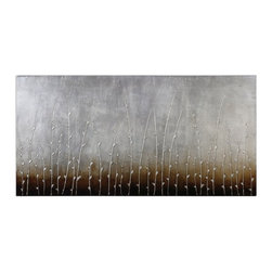 Uttermost - Uttermost 34202  Sterling Branches Hand Painted Art - Hand painted artwork on canvas is stretched and mounted to wooden stretching boards. a glossy finish is added for extra definition. due to the handcrafted nature of this artwork, each piece may have subtle differences.
