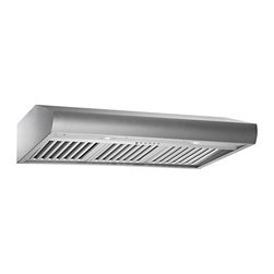 Kobe - Kobe CH2736SQB-1 36W in. CH27 Series Under Cabinet Range Hood - CH2736SQB-1 - Shop for Hoods and Accessories from Hayneedle.com! Low-profile design is efficient yet inconspicuousQuietMode setting allows hood to operate at 280 CFM at a reduced sound level of 40 decibels (1.0 sone); other hoods operate at 6-8 sones at that CFM levelTime Delay System with 3-minute delay shutoff or immediate shutoffECO Mode runs the fan on the QuietMode setting for 10 minutes every hour removing excess moisture and microscopic particles that cause odors for cleaner fresher kitchen airTwo 3W LED lights with 3-level lighting for a bright safe cooking experienceEasy-to-empty catch areas and smooth hood surface for deep cleaning without disassembling the hoodExhaust options: Top 6-inch round Top 3.25 x 10 inch rectangular or Rear 3.25 x 10 inch rectangularAbout KOBE Range HoodsA world leader in quiet kitchen ventilation Kobe Range Hoods are designed by the Japanese-based Tosho & Company Ltd. Their products feature revolutionary QuietMode technology inspiring their motto: So Quiet You Won't Believe It's On! The result of extensive research and development the innovative QuietMode feature allows you to operate your range hood without irritating fan noise while cooking or entertaining guests in the kitchen. Kobe Range Hoods has been providing quality products and exceptional customer service in the United States and Canada for over 40 years.