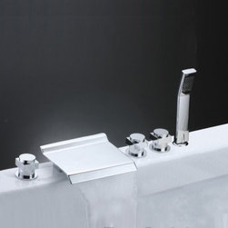 JollyHome - JollyHome Gorgeous Widespread Roman Tub Faucet - Complete parts and all install fittings are included.Water pressure tested for industry standard.Easy to keep clean and maintain.Ceramic valve core