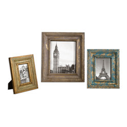 Suvarna Gold Photo Frames Set/3