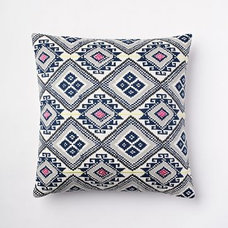 Thai Embroidered Diamond Pillow Cover | west elm