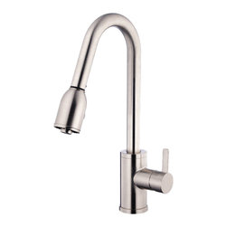 "Danze - Danze D454530SS Kitchen With Pull Down Stainless Steel - Danze D454530Ss Stainless Steel Single Handle Pull-Down Kitchen Faucet is part of the Amalfi Kitchen collection.  D454530SS Single hole mount Pull-Down Kitchen Faucet has a 8"" long and 16 1/2"" high spout, with 2 function spray/aerated stream.  D454530SS Single lever handle meets all requirements of ADA."